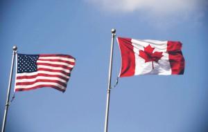 america-canada-flags