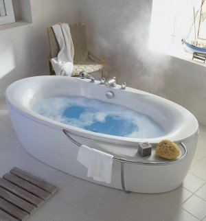 bath tub with hot water