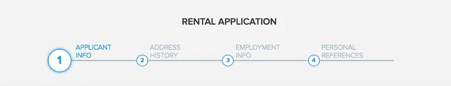 online rental application steps