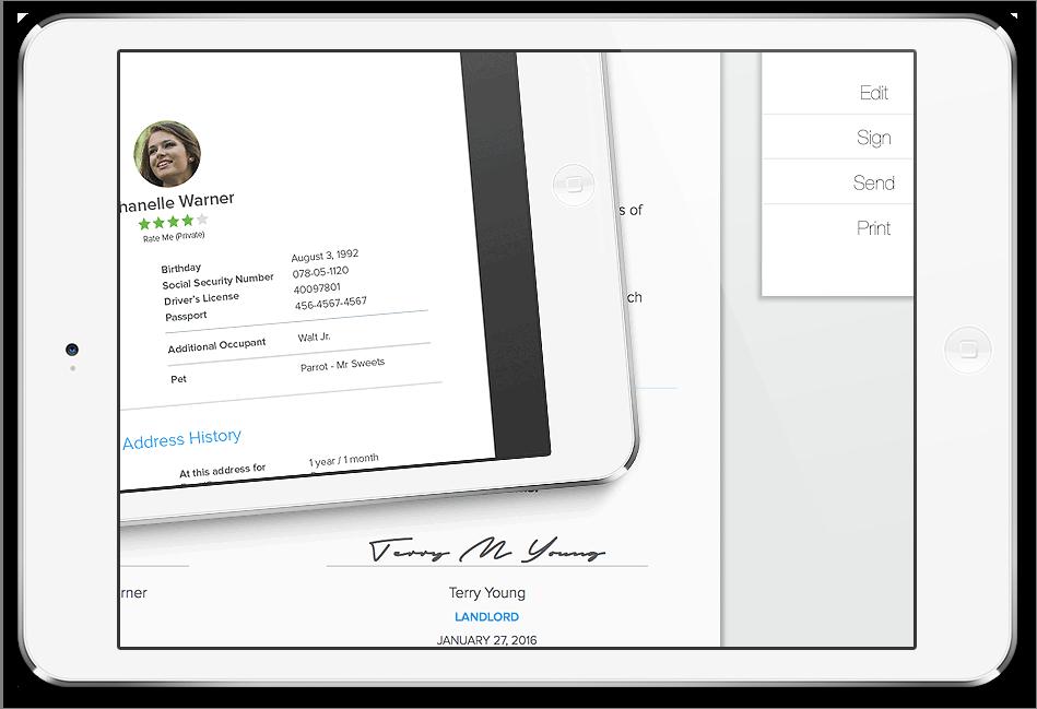 Pendo e-signatures sign lease online