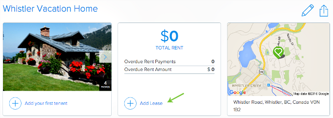 add a Lease to a Property in Pendo