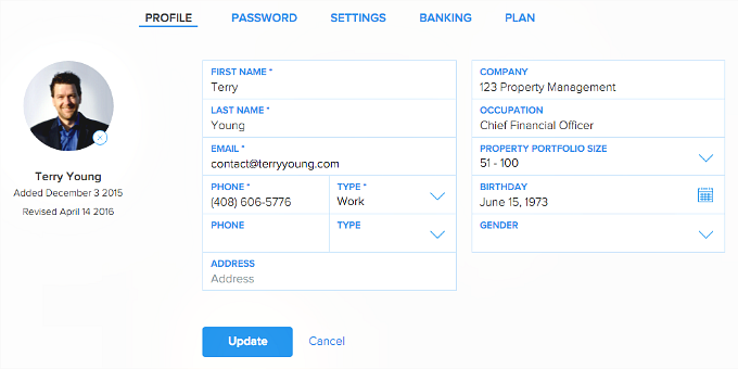 change account settings in Pendo