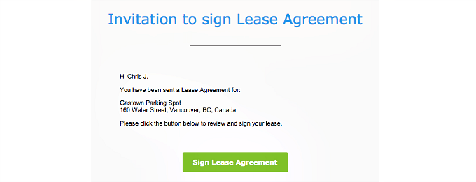 invitation to sign lease agreement