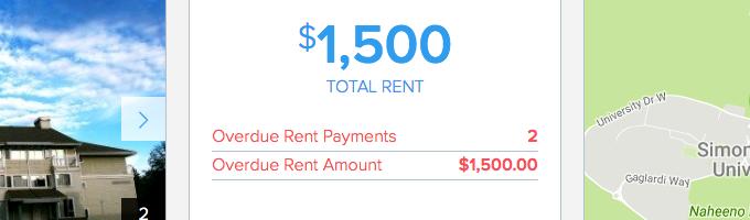 overdue rent