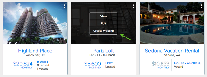 Create single property rental listing website in Pendo