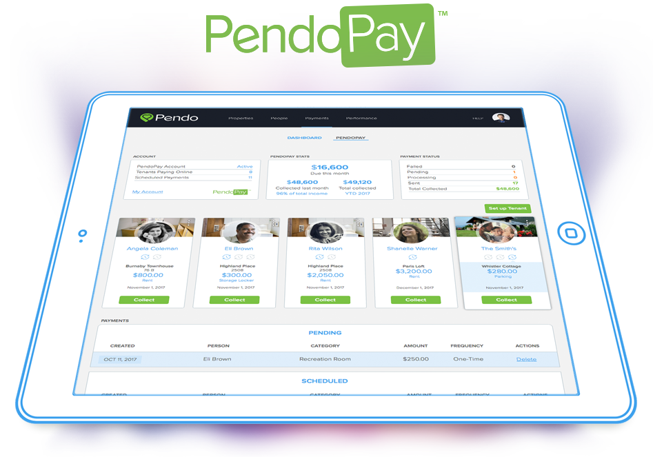 PendoPay Dashboard_Online rent collection