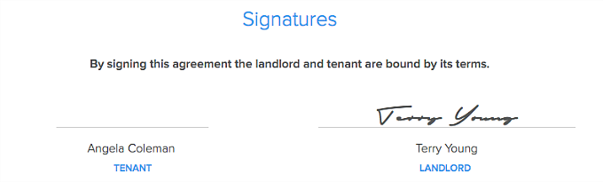 sign Lease Agreement electronically in Pendo