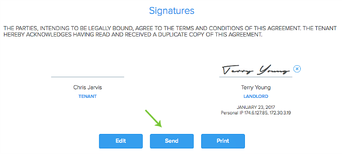 sign and send digital lease agreement in Pendo