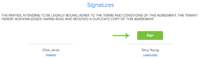 sign electronically lease agreement in Pendo