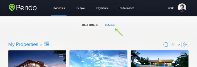 lease timelines in pendo properties dashboard