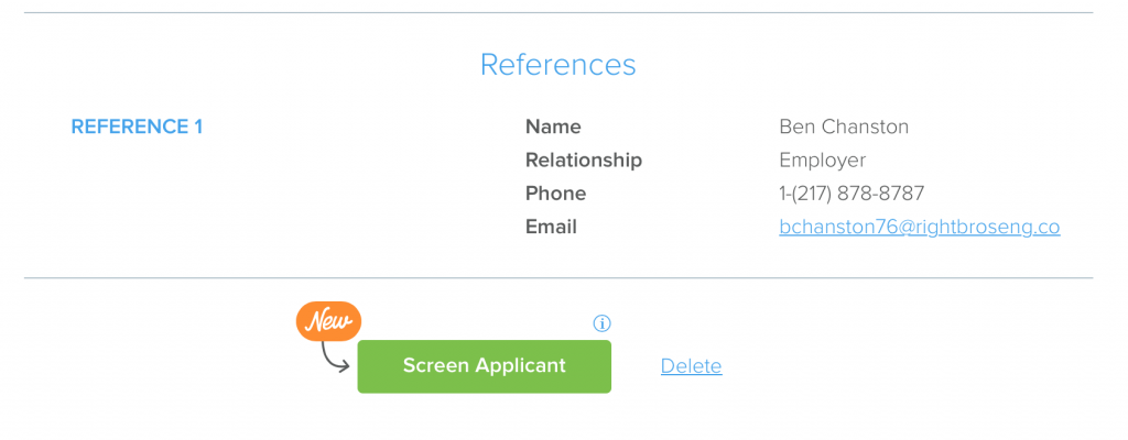 Pendo Screen Applicant from Application